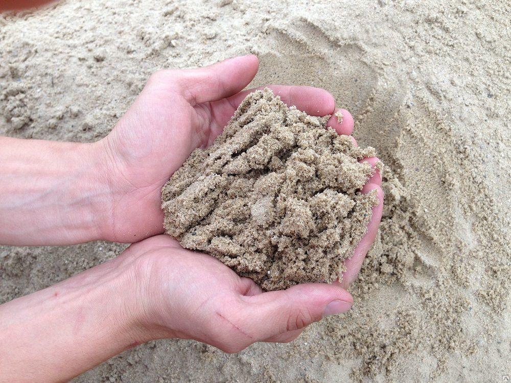 песок речной очищенный