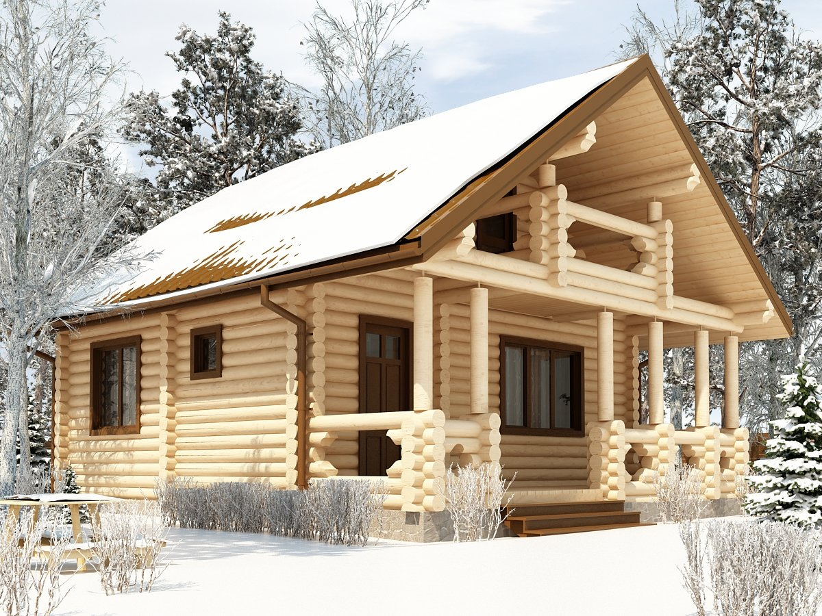 фото модели домов из бревна фото солидный